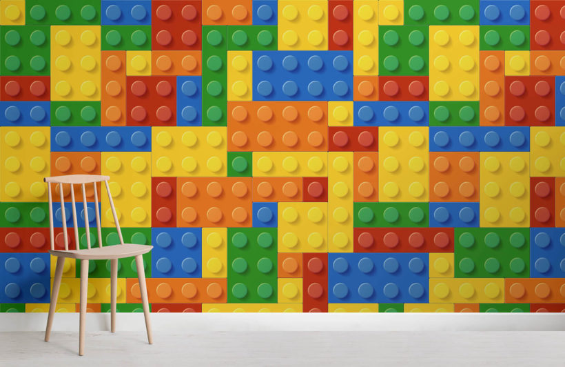 Cheap 3d Brick Wallpaper Colourful Lego Wallpaper Wall Mural Muralswallpaper Co Uk
