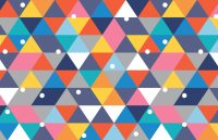 Colourful Geometry Mural Wallpaper | MuralsWallpaper.co.uk