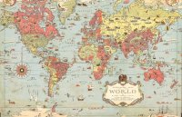 Kids Vintage World Map | MuralsWallpaper.co.uk