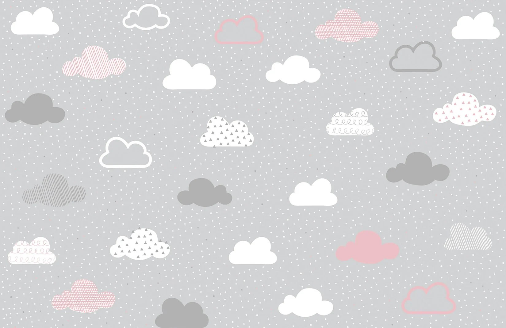 Forest Black And White Wallpaper Pink And Grey Clouds Pattern Wall Mural Murals Wallpaper