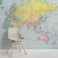 World Map Wallpaper & Atlas Wall Murals | Murals Wallpaper