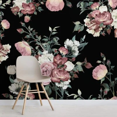 Peony Love Quote Wallpaper Flower Wallpaper Stunning Floral Wall Mural Designs