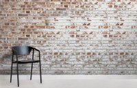 White Paint Bricks Wall Mural | MuralsWallpaper.co.uk