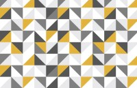 Yellow and Grey Abstract Geometric Wallpaper | Murals ...