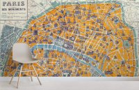 Vintage Parisian Streetmap Mural | MuralsWallpaper.co.uk