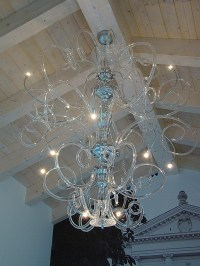 Clear with Chrome Modern Contemporary Murano Chandelier ...