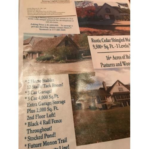 Herbert Baumeister Fox Hollow Farm flyer for the house sale / Murder