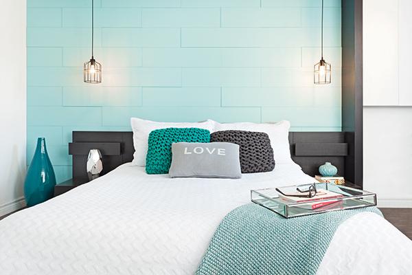 Mur vedette dans la chambre à coucher Mur Design
