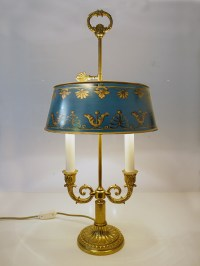 Two-Arm French BOUILLOTTE Lamp Empire Tole Table Lamp | eBay