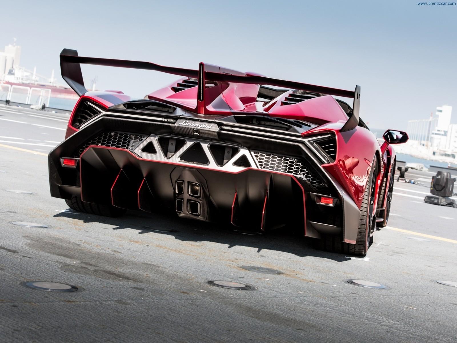 3d Bugatti Car Wallpaper 2014 Lamborghini Veneno Roadster Rear Angle 4 Muscle