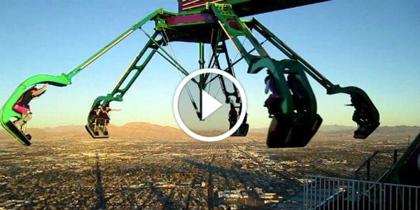 This Las Vegas Amusement Park Is 1000+ Feet Above The Ground!