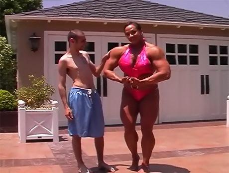 tall muscular amazon woman