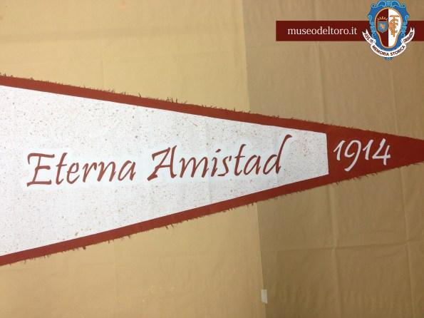 Bandiera Racing-Torino 1914: dettaglio Eterna Amistad 1914