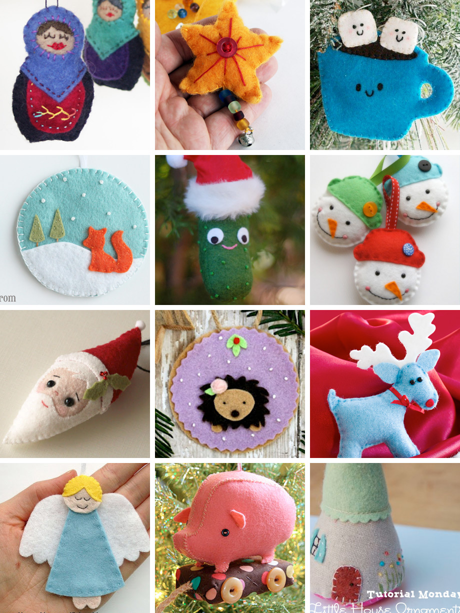 Weekend inspiration felt ornaments you can make with wool felt