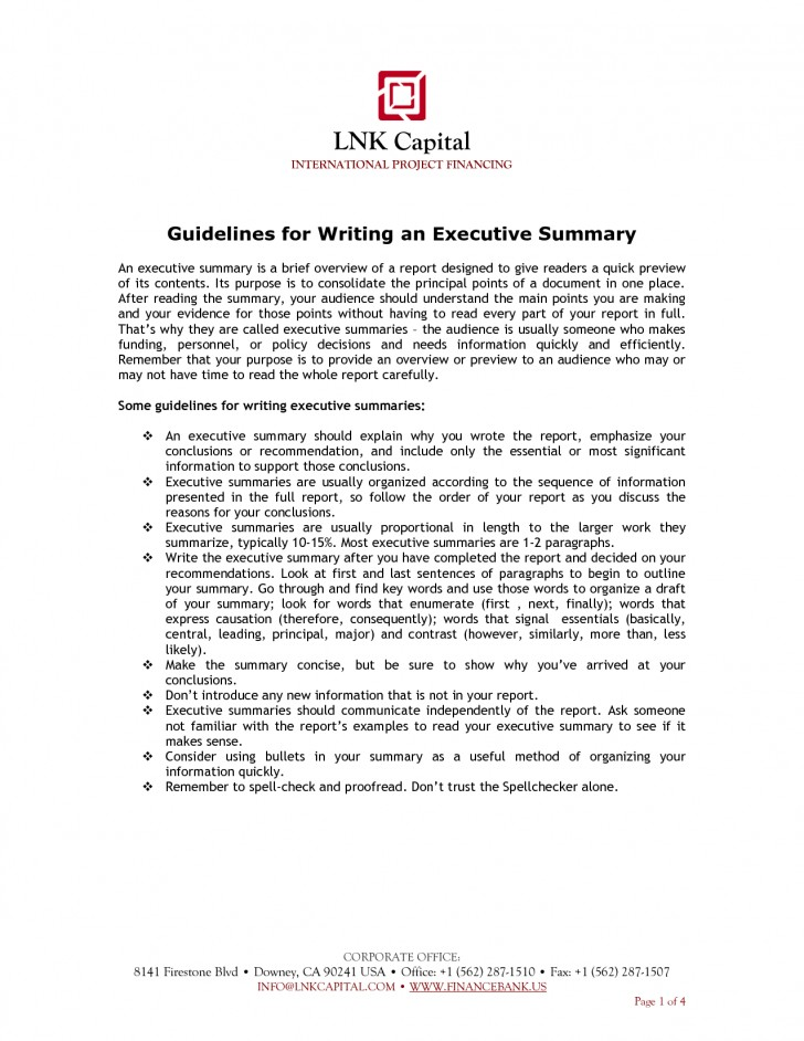 Writing An Executive Summary Example  Project Management Executive Resume Example  Ppt
