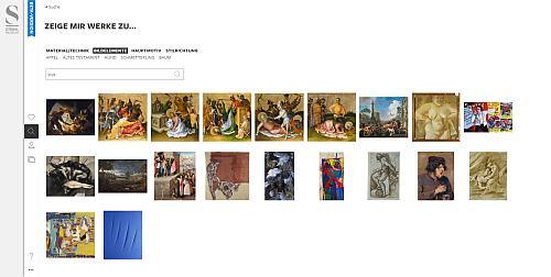 Die Digitale Sammlung ermöglicht sowohl die Suche nach fachlichen, als auch nach assoziativen Parallelen. Screenshot: Tanja Neumann