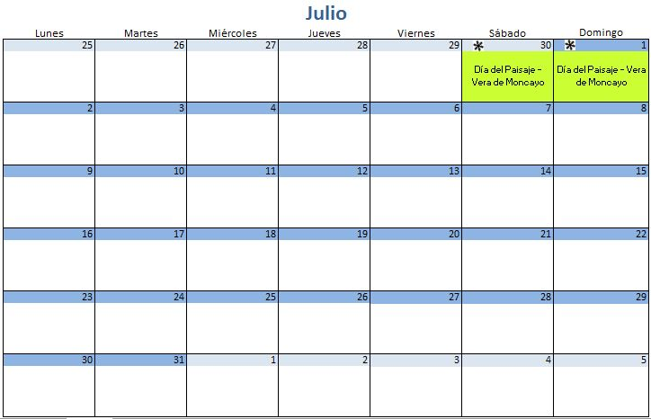 Calendario de Mushing Julio \u2013 2018 \u2013 Mushing You