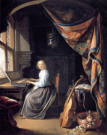 220px-Gerard_Dou,_Woman_at_the_Clavicord-1