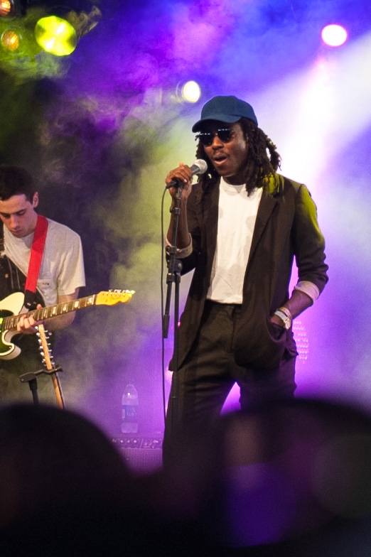 Dev Hynes on stage in 2014.
