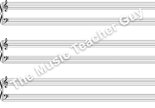 Staff Paper Collection - Musical Intervals