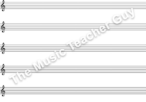 Blank Bass Clef With TAB - Musical Intervals
