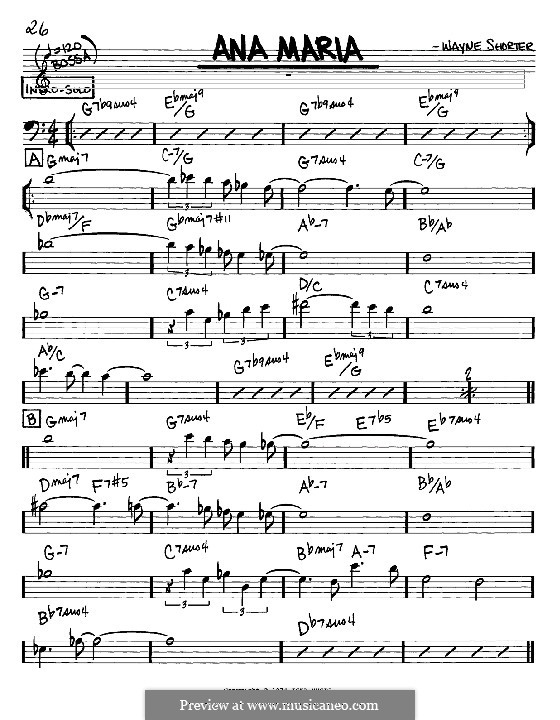 Ana Maria by W Shorter - sheet music on MusicaNeo