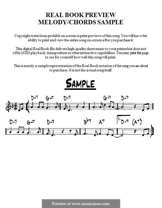 Afro Blue by M Santamaria - sheet music on MusicaNeo