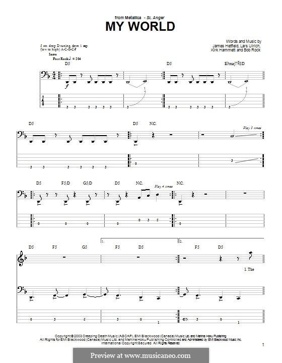 My World (Metallica) by B Rock, J Hetfield, K Hammett, L Ulrich