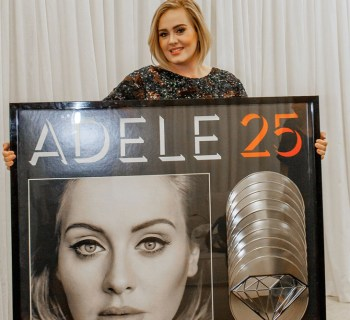"""Adele - """"25"""" goes 10x Platinum"""