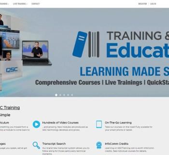 QSC online training platform