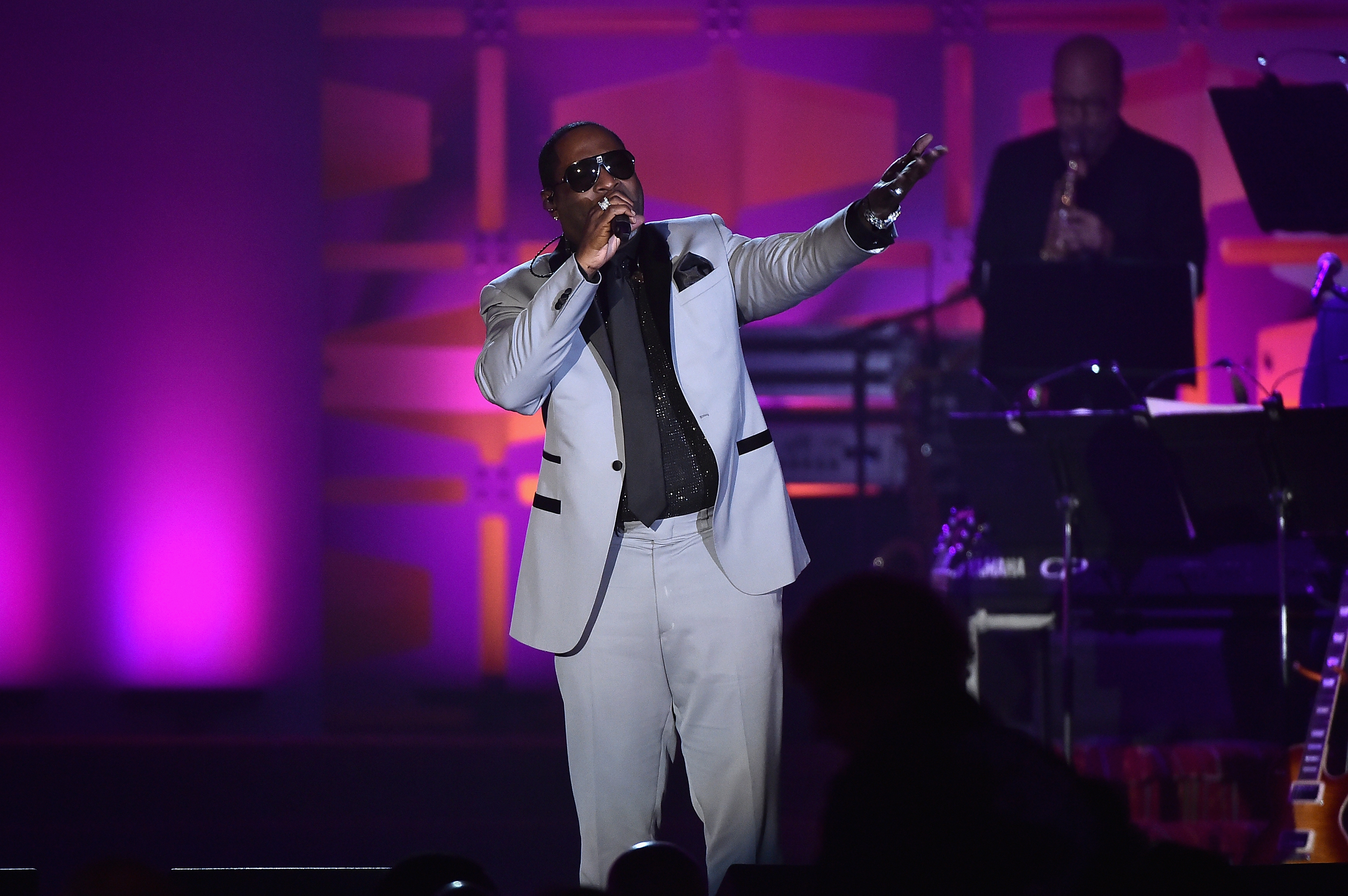 NEW YORK, NY - JUNE 15:  Johnny Gill performs onstage at the Songwriters Hall Of Fame 48th Annual Induction and Awards at New York Marriott Marquis Hotel on June 15, 2017 in New York City.  (Photo by Theo Wargo/Getty Images for Songwriters Hall Of Fame) *** Local Caption *** Johnny Gill