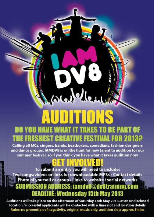 auditions flyer - Hizlirapidlaunch - talent show flyer