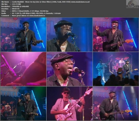 Curtis Mayfield – Move On Up (Live @ Ohne Filter) [1990, DVD-VOB] Music Video