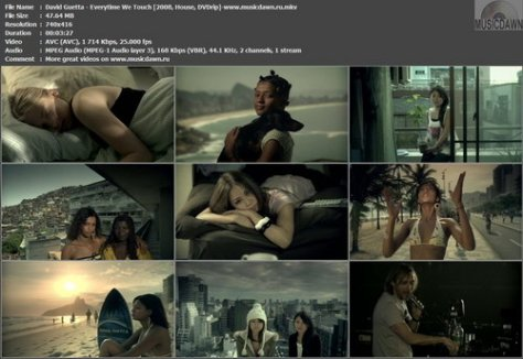 David Guetta & Chris Willis – Everytime We Touch [2008, DVDrip] Music Video