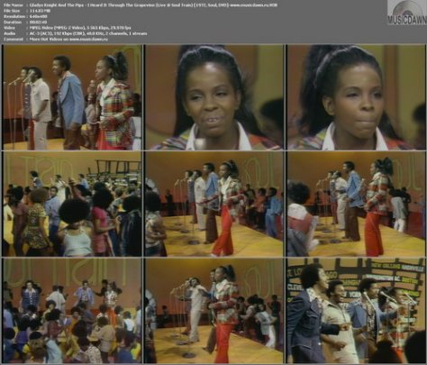 Gladys Knight And The Pips - I Heard It Through The Grapevine (Live @ Soul Train 07.10.1972) DVD VOB