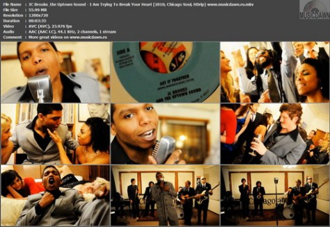 JC Brooks & the Uptown Sound – I Am Trying To Break Your Heart [2010, Chicago Soul, HDrip] Music Video