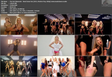 The Hot Diamonds - Need Some Sex (2012, Modern Pop, HD 1080p)