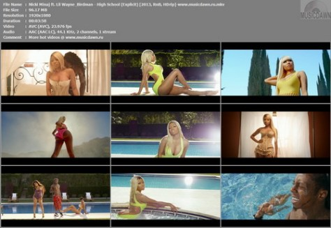 Nicki Minaj ft. Lil Wayne & Birdman – High School (Explicit) [2013, HD 1080p] Music Video