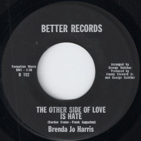 "Brenda Jo Harris – The Other Side Of Love Is Hate (Better) [7""]"