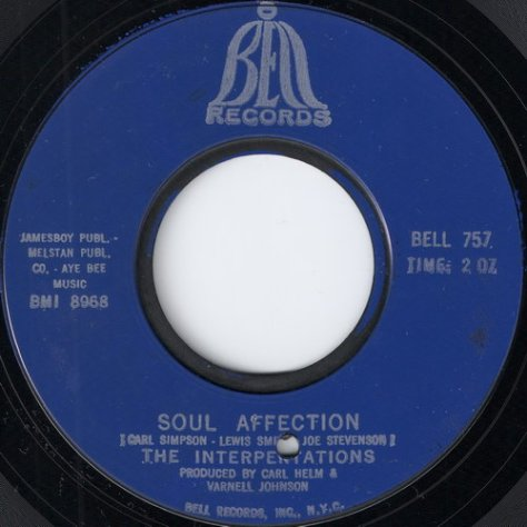 "The Interpretations – Soul Affection (Bell) [7""] '1969"