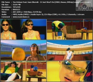 Tim Deluxe Feat. Sam Obernik – It Just Won't Do [2002, DVDrip] Music Video