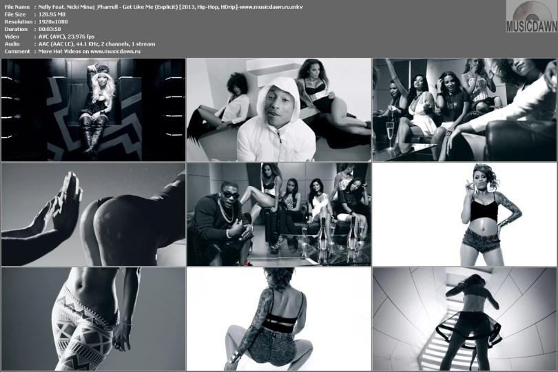 Nelly Feat. Nicki Minaj & Pharrell - Get Like Me (Explicit) [2013, Hip-Hop, HD 1080p]