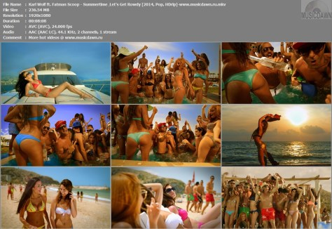 Karl Wolf ft. Fatman Scoop – Summertime | Let's Get Rowdy [2014, HD 1080p] Music Video