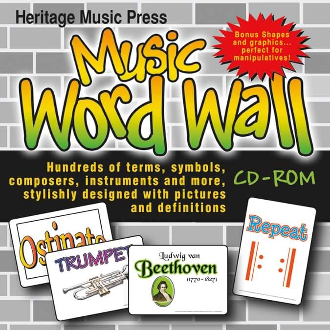 Product Detail Music Word Wall - CD-ROM