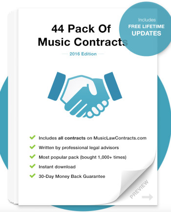 Music Business Contract Templates  Samples Music Law Contracts - music contract templates