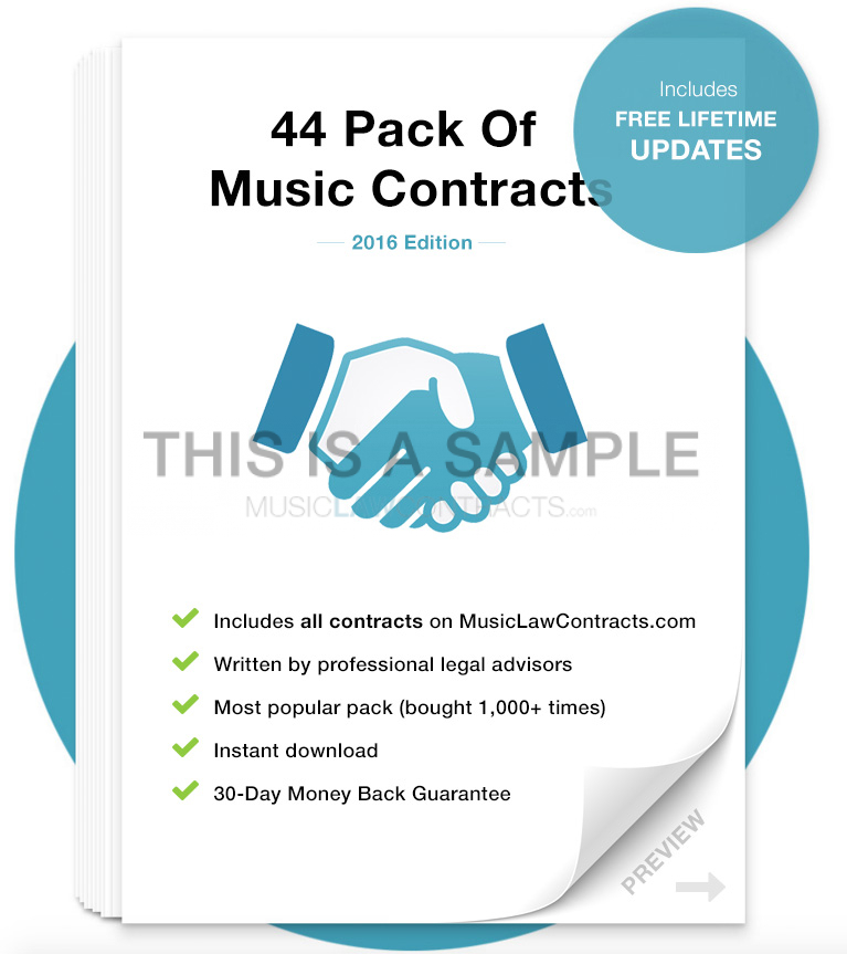 All-in-One Music Contract Pack MusicLawContracts