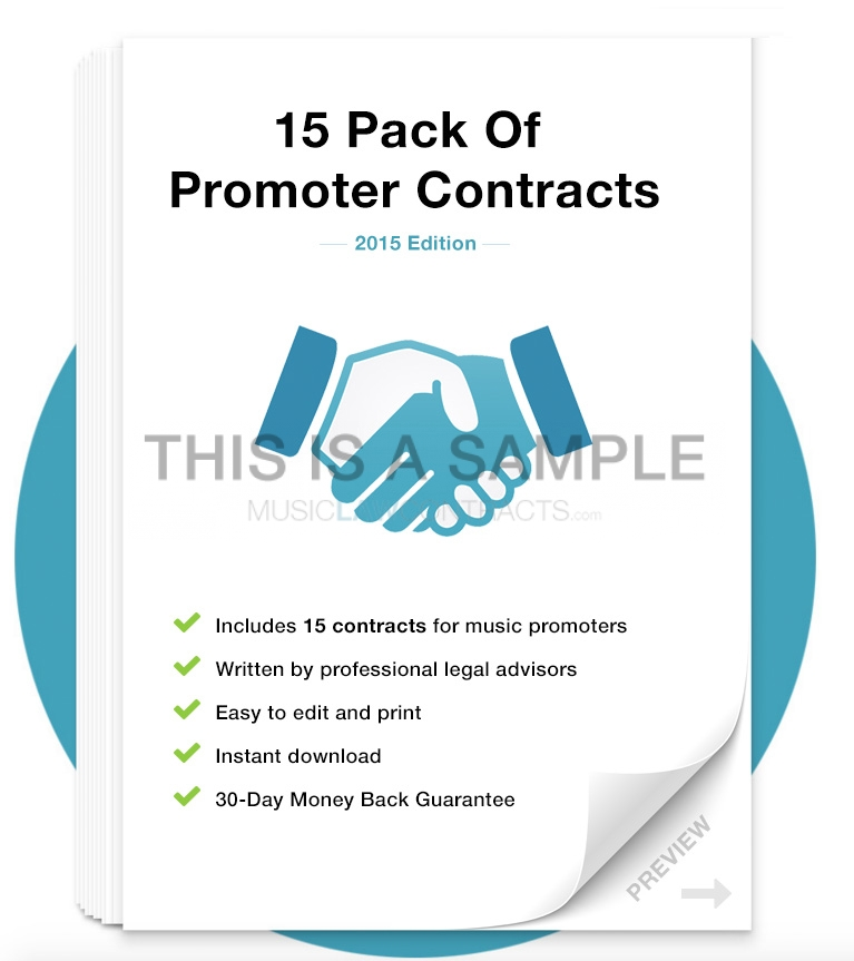 Download Promoter Contract Template Pack MusicLawContracts - music contract templates