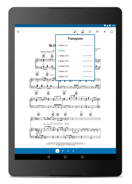 Sheet Music App for Android - Musicnotes