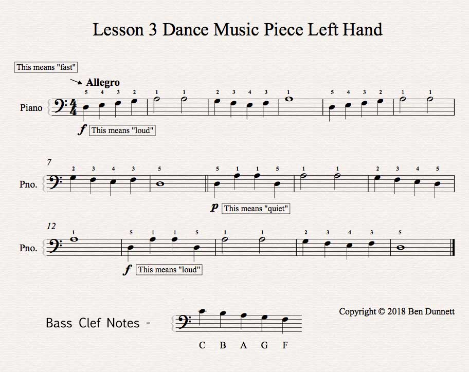 How To Play Faster Piano Notes \u2013 Music Theory Academy - bass cleft sheet music