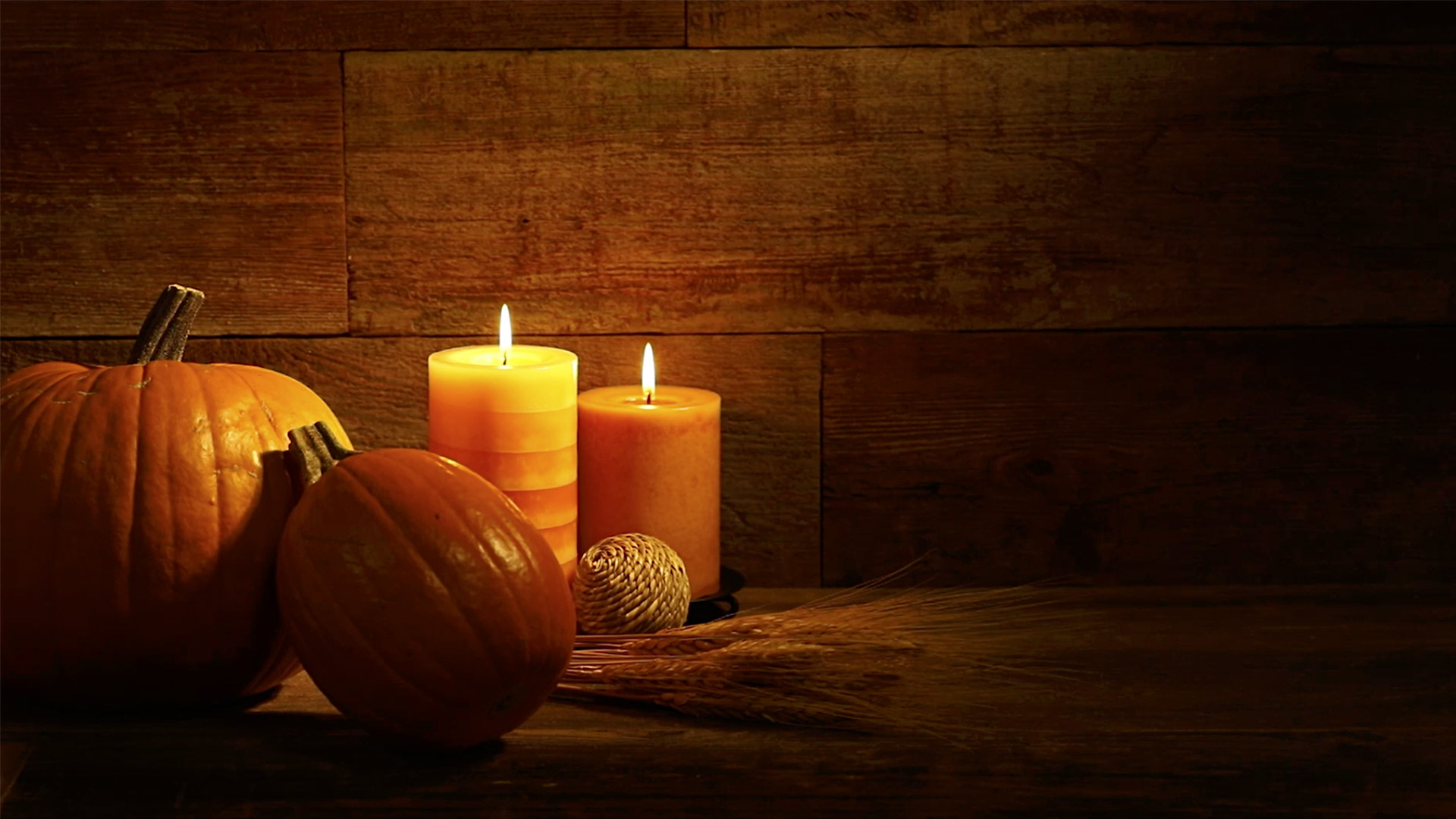 Fall Wallpaper Backgrounds Pumpkins Candles And Pumpkins On Urban Wood Background Video Loop